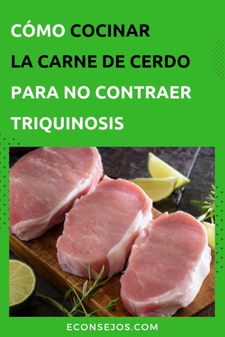 cocinar carne para matar parásitos