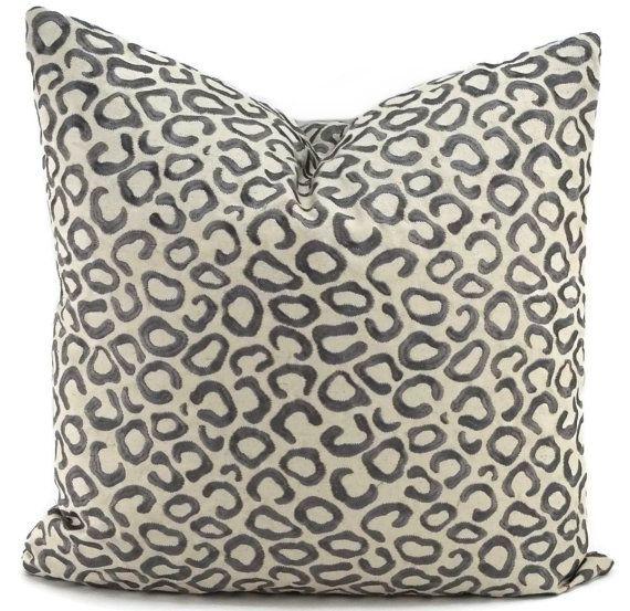Taupe Cotton Linen Throw Pillow Cover