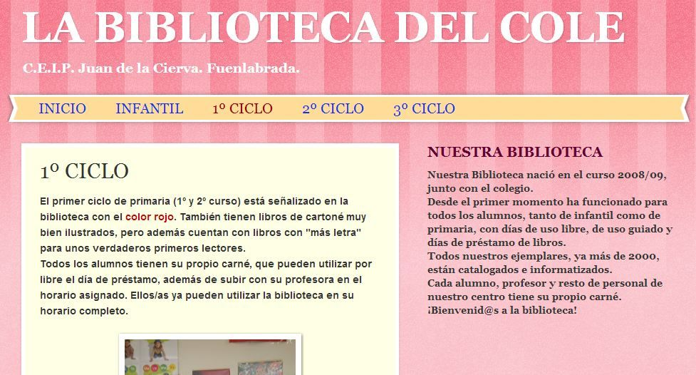 Biblioteca del CEIP Juan de la Cierva de Fuenlabrada | Bibliotecas ...
