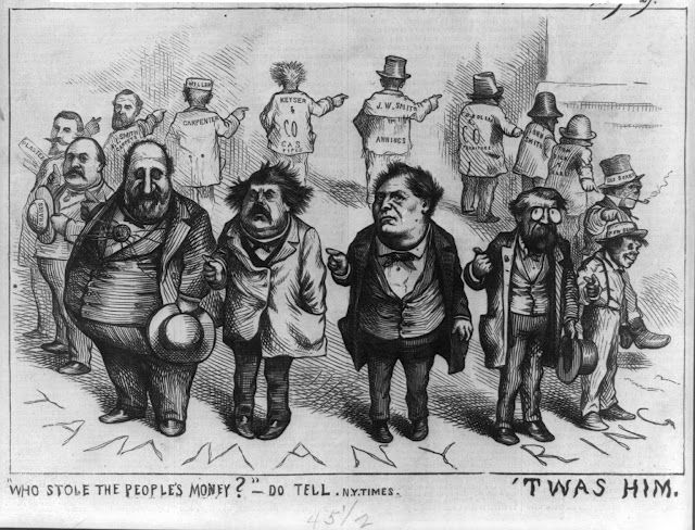 Boss Tweed Hat In Hand And The Ring By Thomas Nast