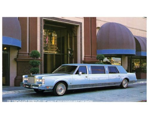 1985 Lincoln Ultra Stretch Limo Factory Photo Ca4838 Stretched
