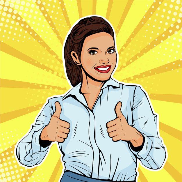 Pop Art Successful Female Businesswoman In 2020  Pop Art -1126