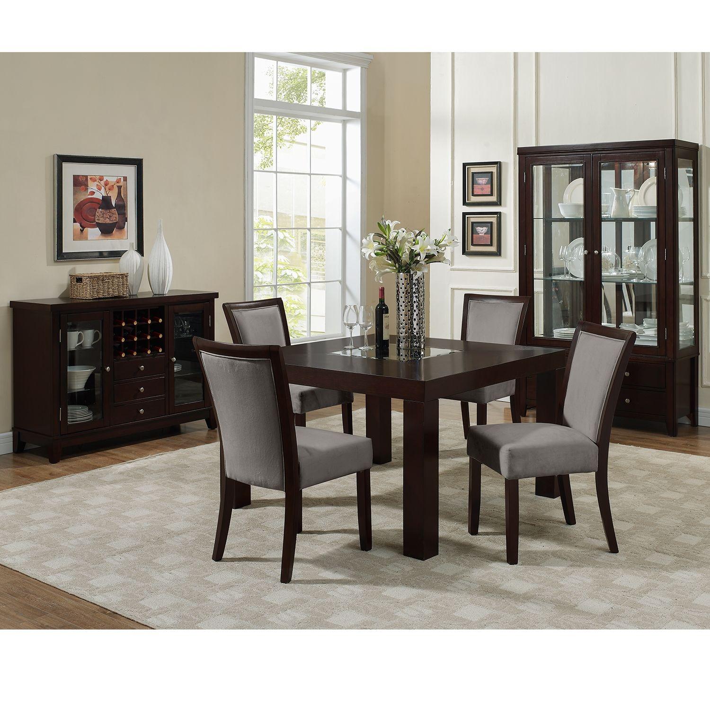 American Signature Furniture  Tango Gray Dining Room 5 Pc Glamorous American Signature Dining Room Sets Design Decoration