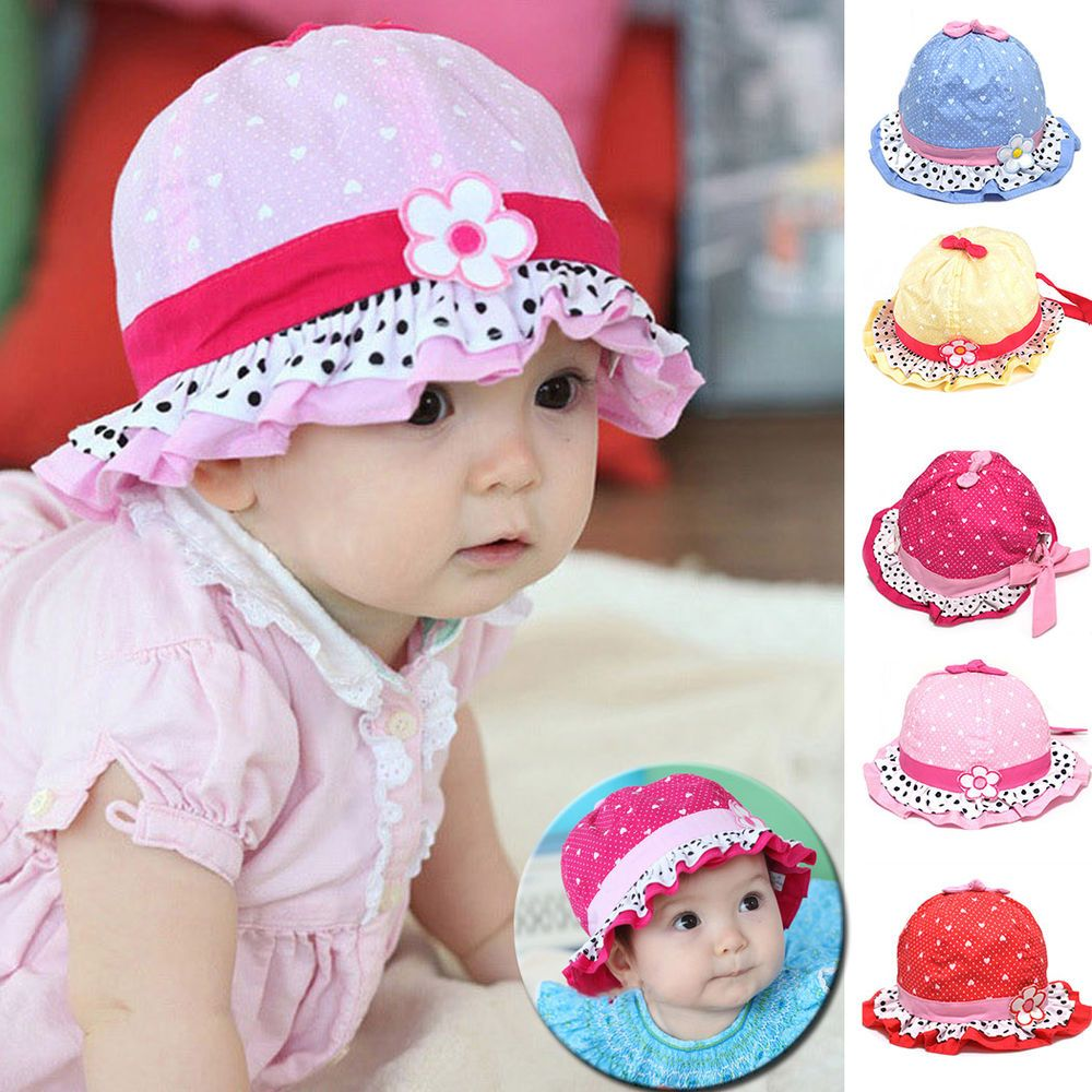 Flower bucket has with ears for baby blue sun hats | Hats | Pinterest