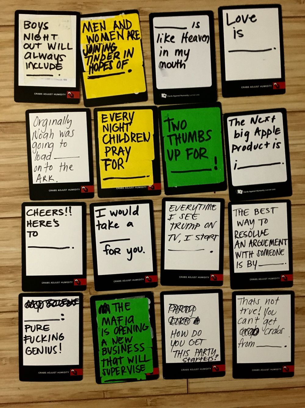 humanity cards blank against deck funny diy awesome own cah suggestions