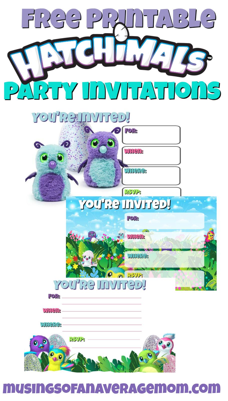 Hatchimals Invitations Minecraft Birthday Party Birthday Party Printables Free Free Party Invitations