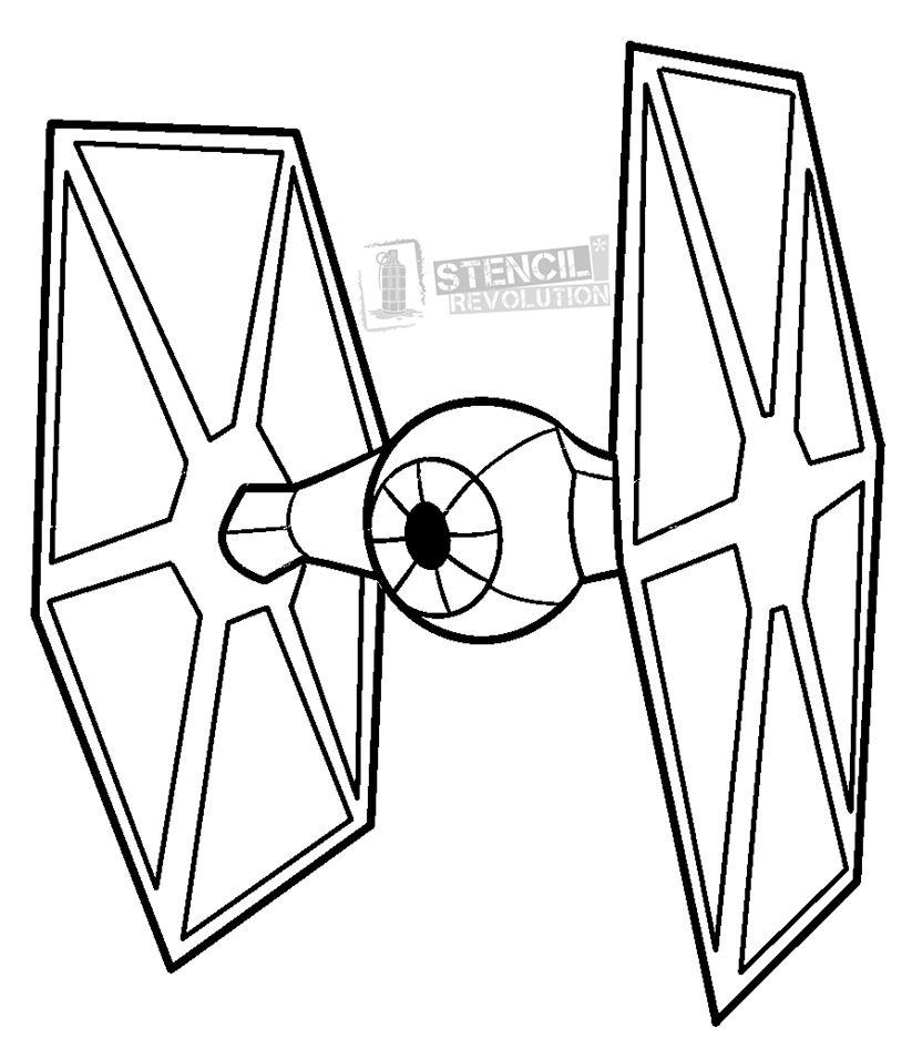 Tie Fighter Stencils Star Wars Drawings Star Wars Painting