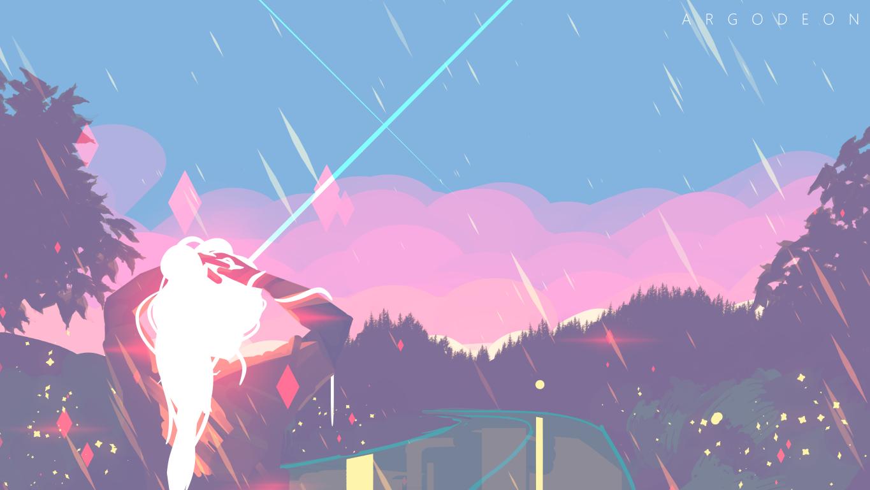 Grl 1366x768 Cool Landscapes Anime Background Pastel Landscape