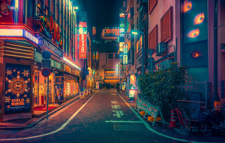 Pachinko Tokyo Japan Night Photography Anime Scenery Anime City Anime Backgrounds Wallpapers Anime city night wallpaper 4k
