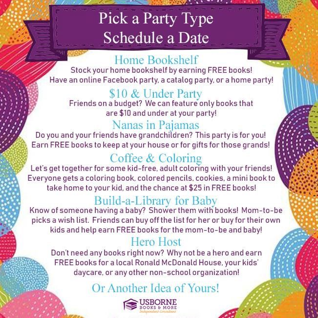 Choose A Party Can Be Anything In 2020 Usborne Books Party Usborne Books Consultant Usborne Books