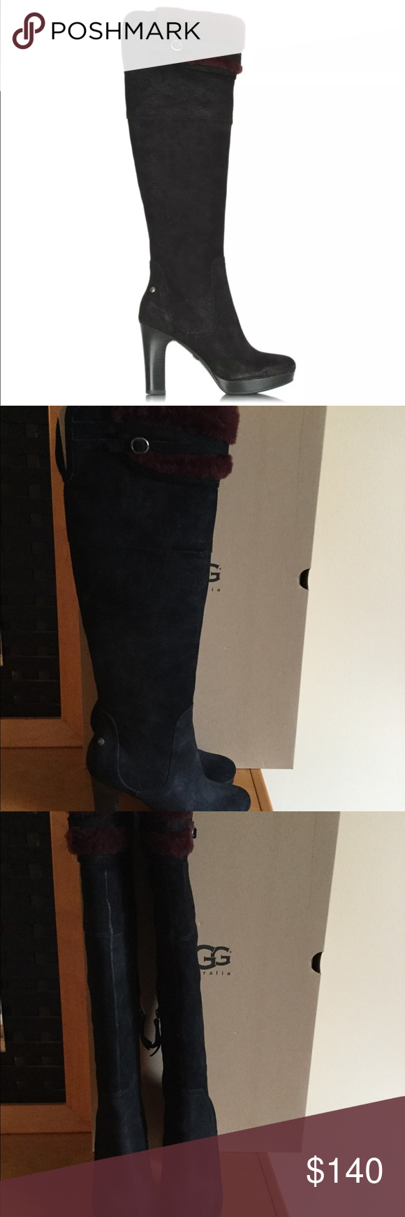 9c43e4523b2 UGG Ophira black suede leather over the knee boots Very good ...