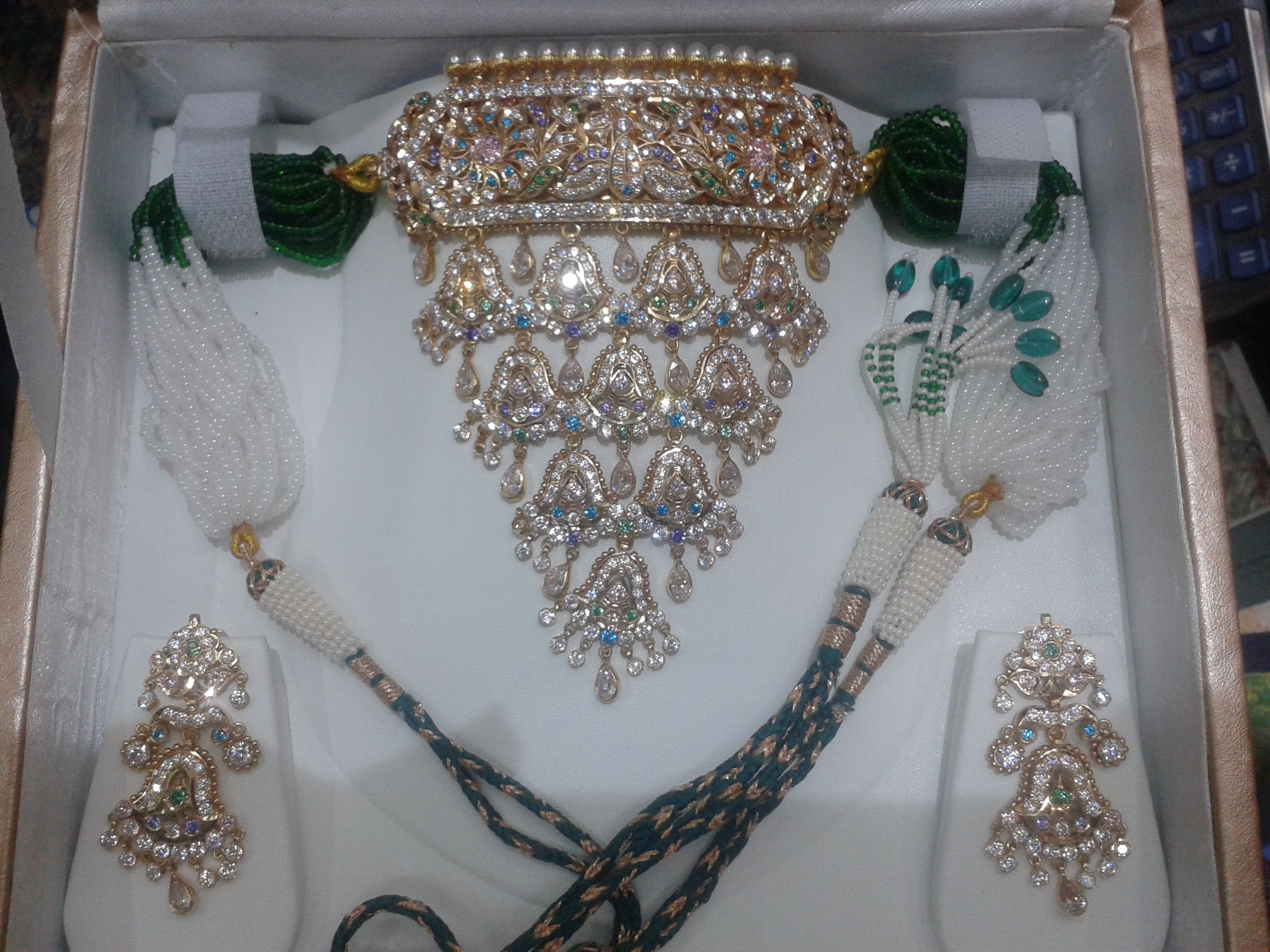 jodhpuri gold jewellery with signity stones by dulhan jewellers ...