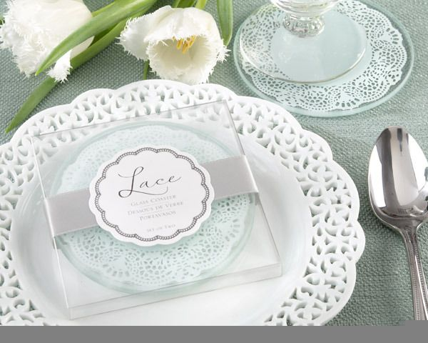 """""""Lace"""" Exquisite Frosted-Glass Coasters"""