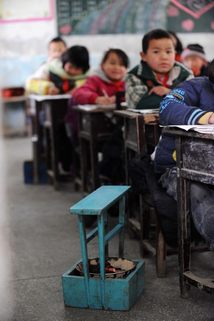 Un poêle portable: école de Chaping