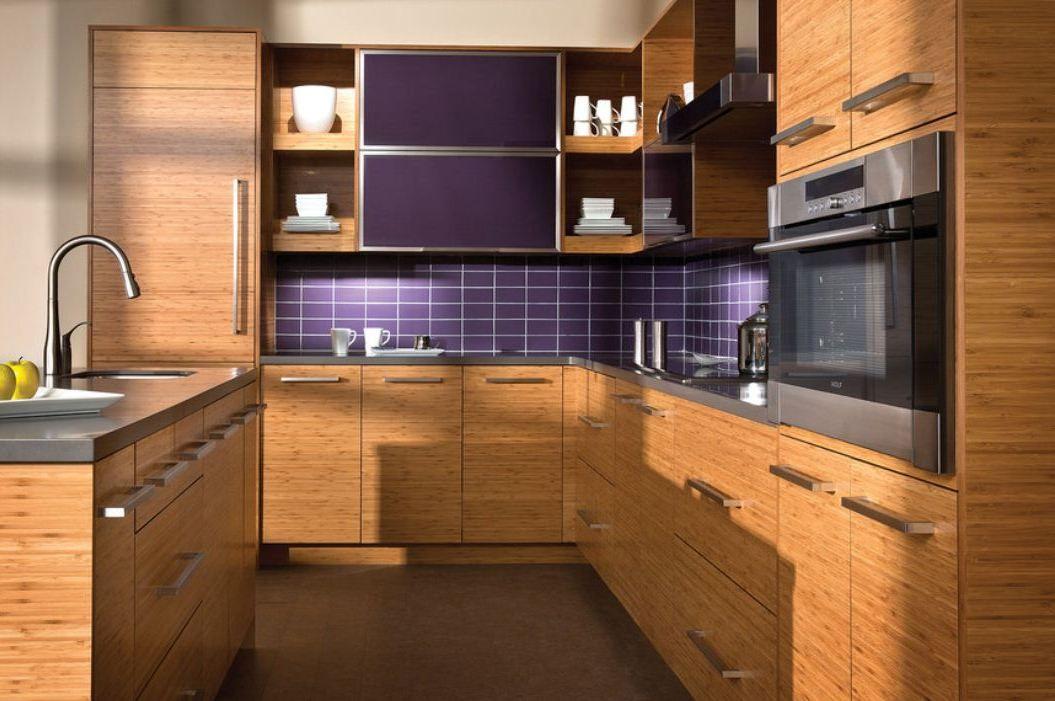 Horizontal Kitchen Cabinets Horizontal Grain Bamboo Kitchen | Bamboo cabinets, Bamboo kitchen