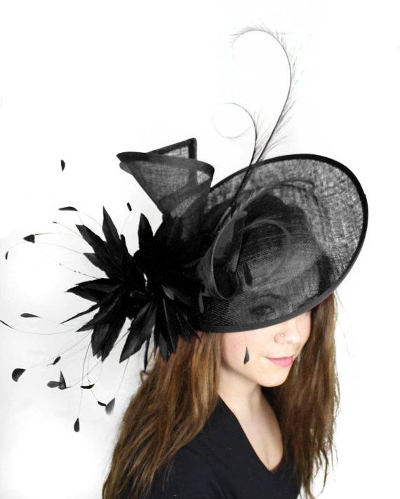 6e6de8659422c Adonis Black Fascinator Hat for Weddings, Races, and Special Events ...