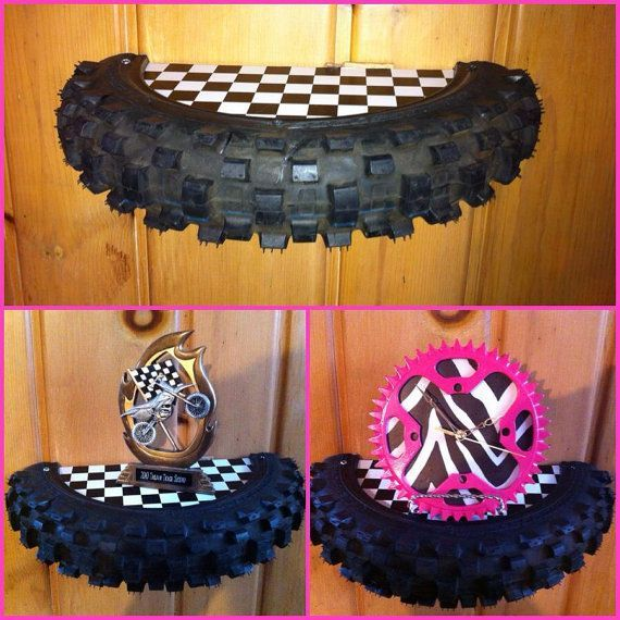 Hey I Found This Really Awesome Etsy Listing At Https Www Etsy Com Listing 122653761 Motocross Tire Shelf With Images Bike Room Dirt Bike Room Motocross