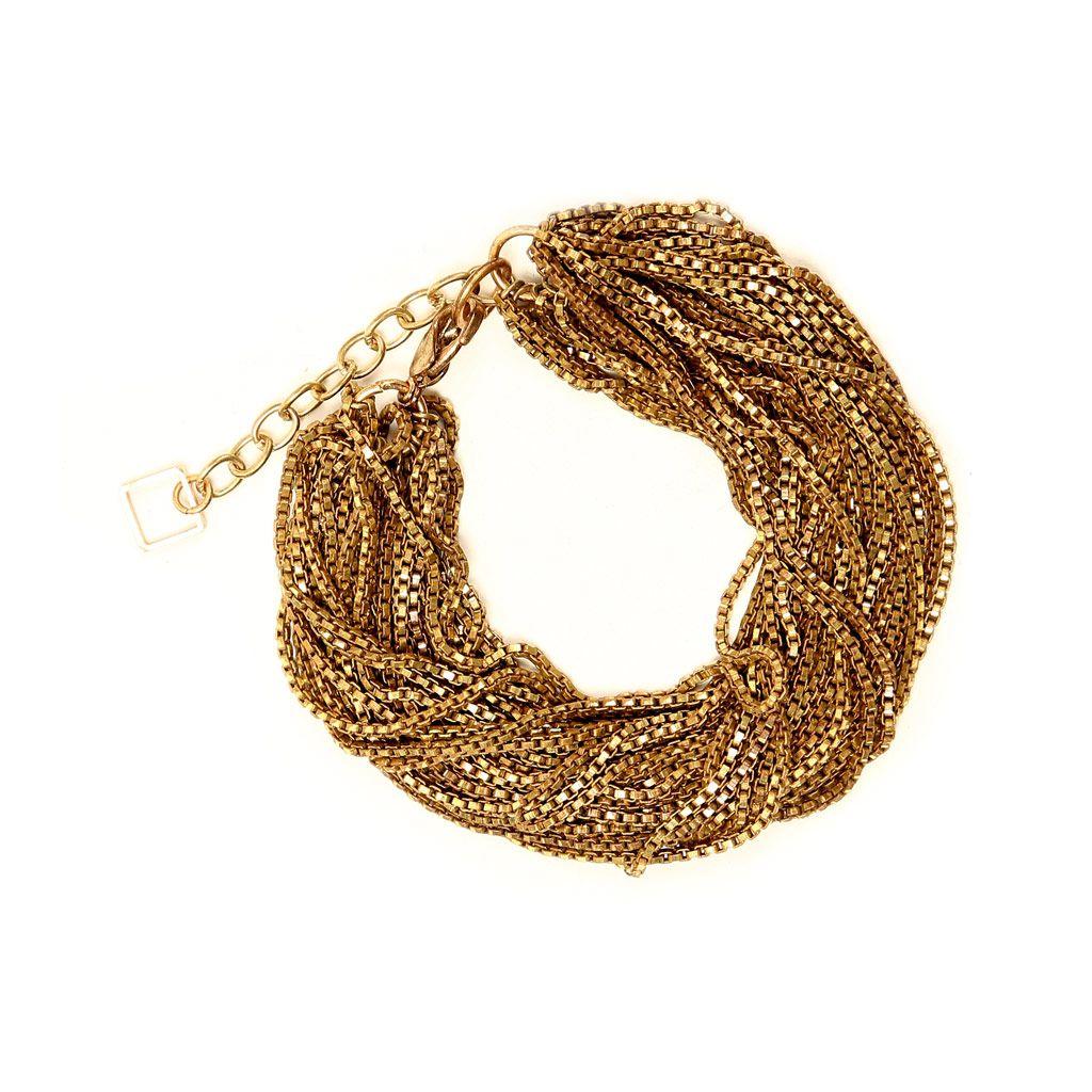 Antique gold chain bracelet fashionable frenzy pinterest hula