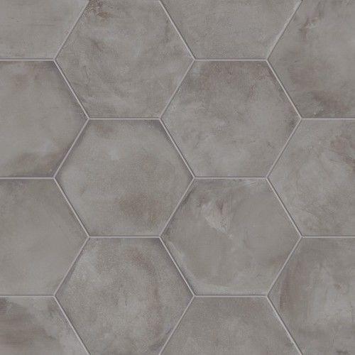 """Dirty Kitchen Floor: Marca Corona Terra Antracite 8"""" Hex In 2019"""