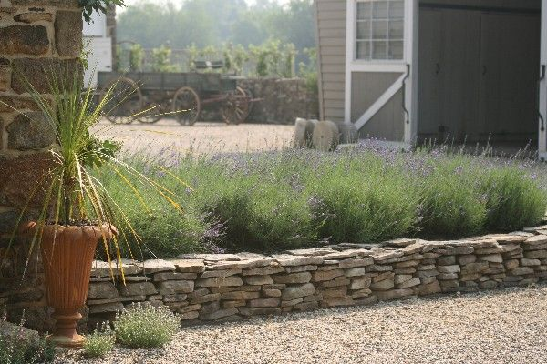 Flat fieldstone raised bed Project The Spruces Pinterest