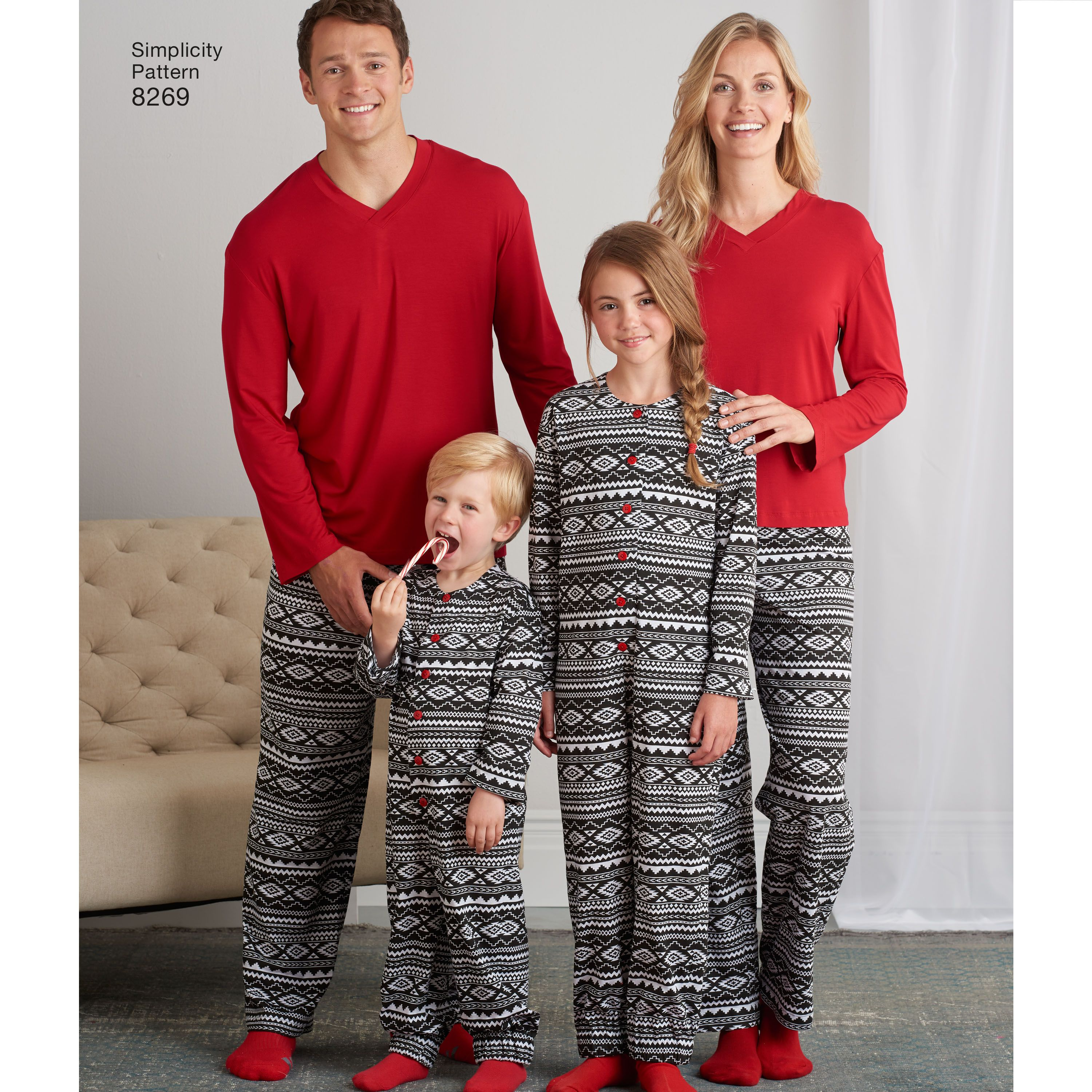 Adult Pants Top    Sewing Pattern Simplicity 8269 Family Unisex Child Jumpsuit