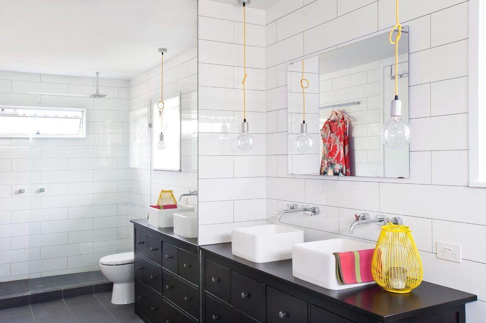 Large Subway Tile Kitchen Traditional With Backsplash Handle Faucets Tiles