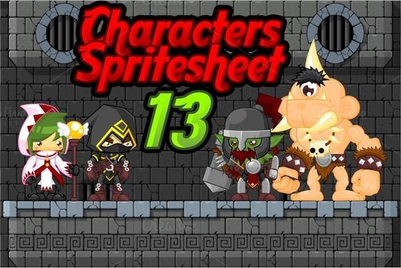 Check out Characters Spritesheet 13 by pzUH on Creative Market