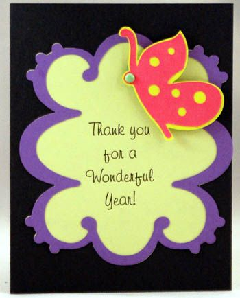 Card using Storybook cart    wwwcrafts-for-all-seasons - thank you notes for teachers