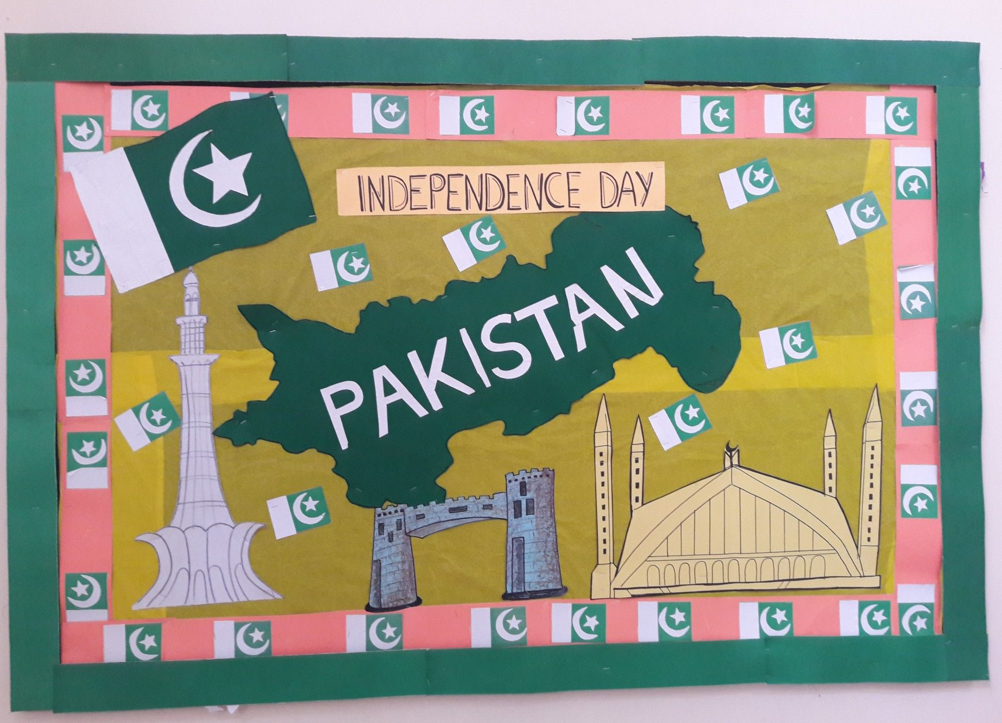 14th August Independence Day Bulliten Board By Sumera