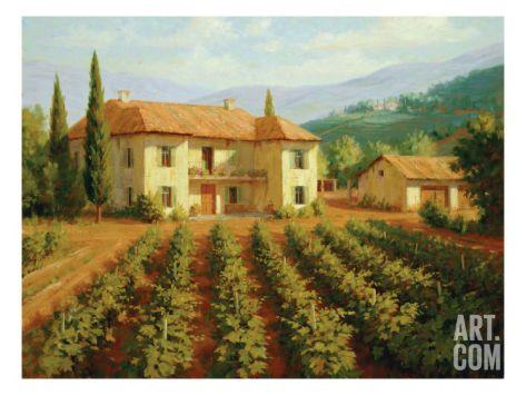 Tuscan Vineyard Print By Roger Williams At Art Com Vineyard Art Tuscan Art Vineyard