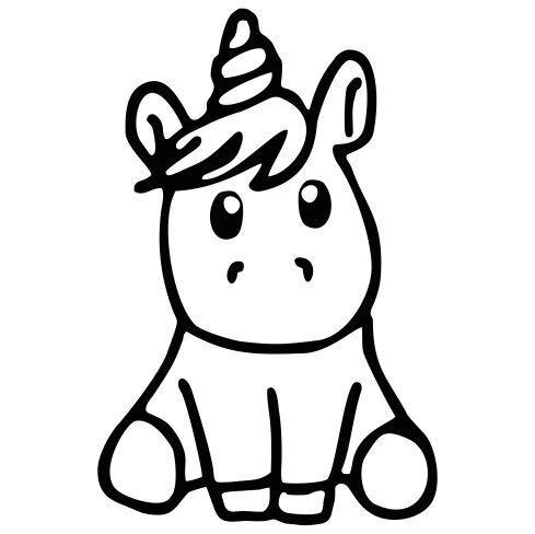 DRUCKUNDSO Einhorn Vektor Unicorn coloring pages