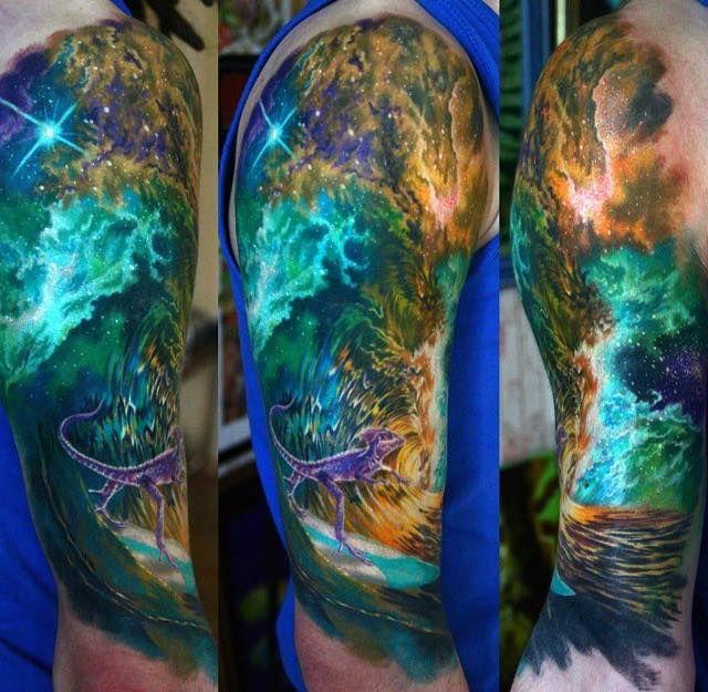 16 Refreshing Wave Tattoos Tattoos For Guys Astronomy Tattoo Sleeve Tattoos