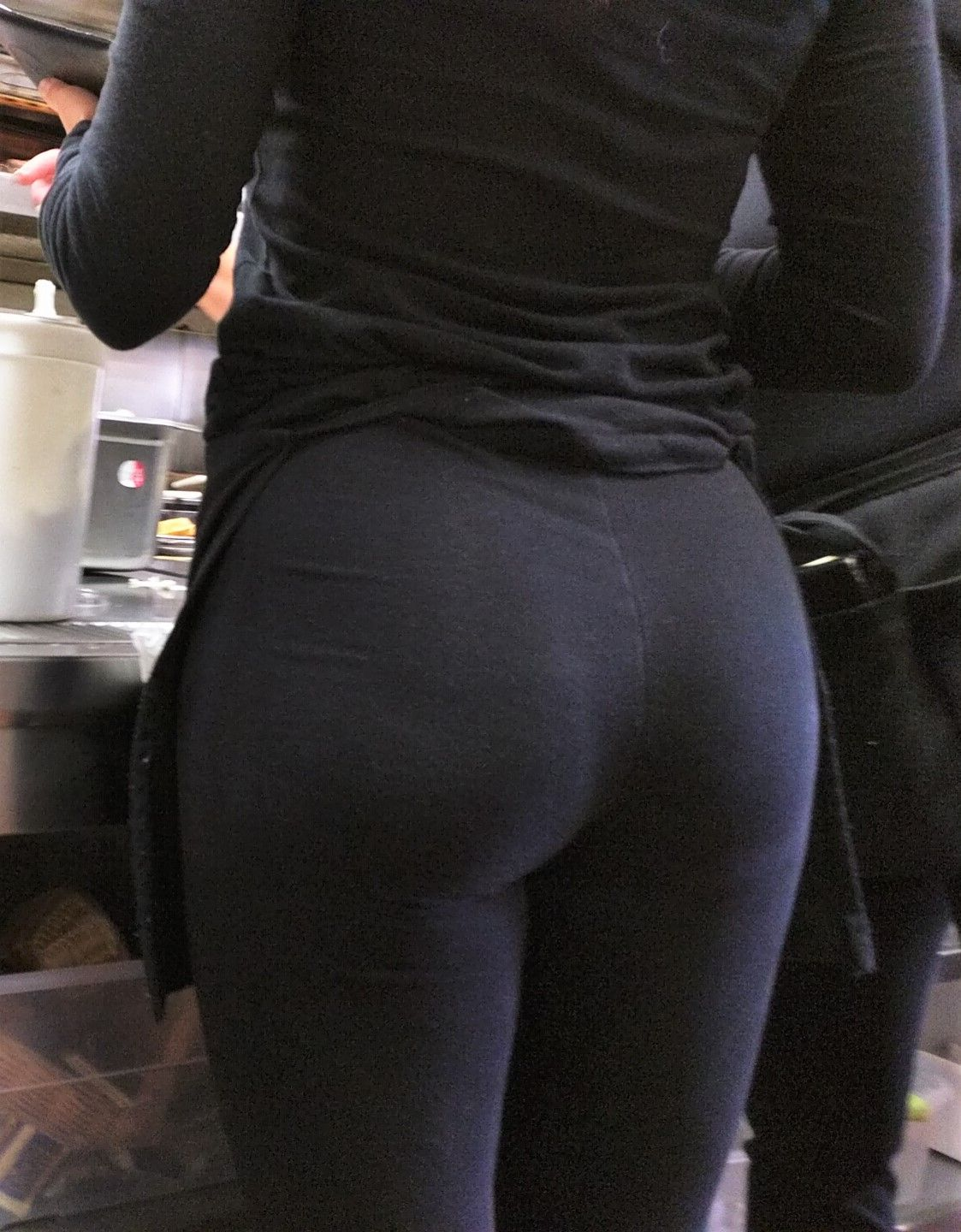 Black ass spandex