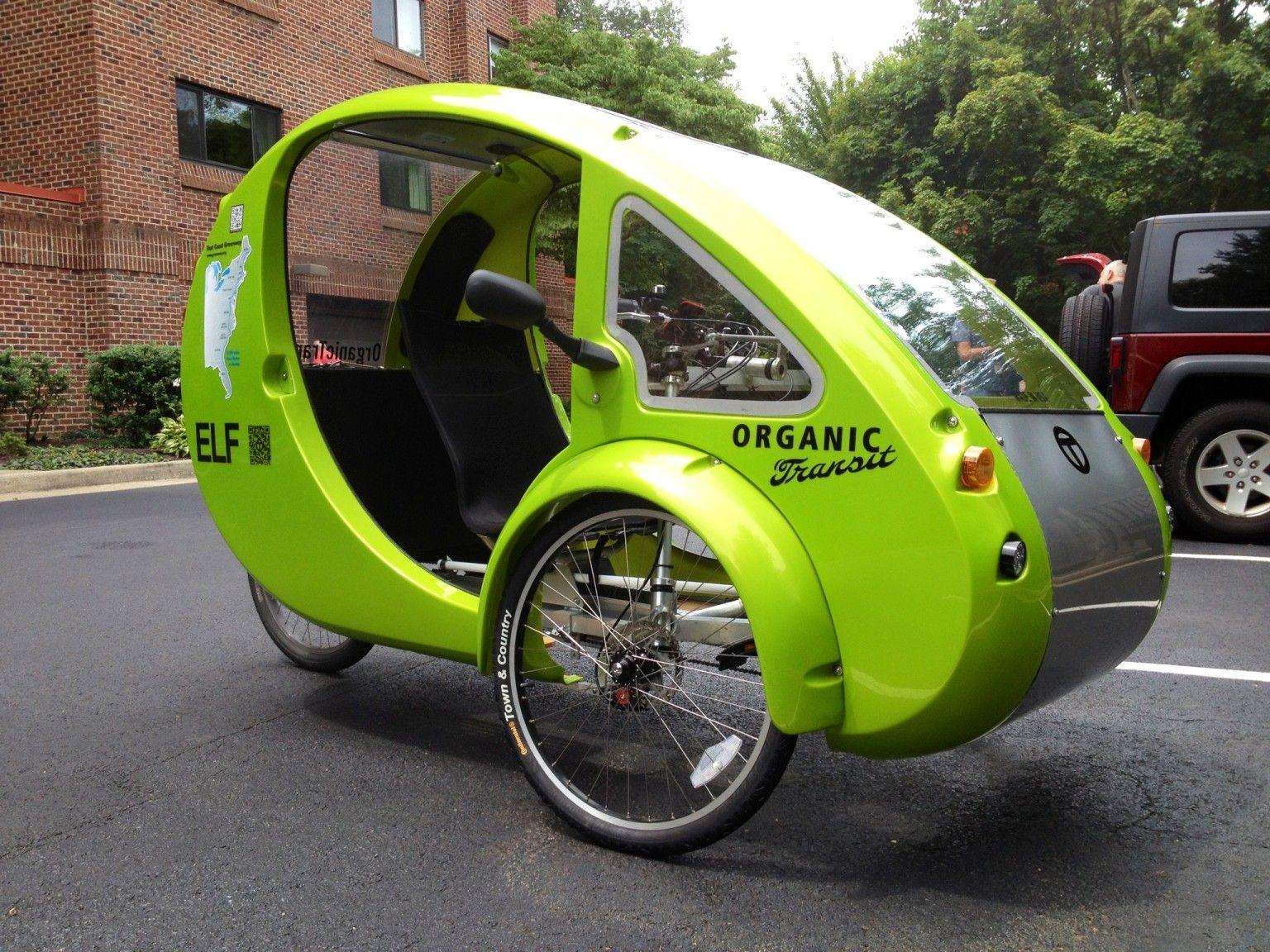 Elf Bike Car Hybrid Solar Paneled Vehicle Bike Of The Future Battery Powered Car Urban Bicycle Electric Bike