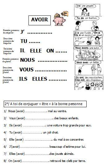 e309a4719 être et avoir au présent | BLOG de Monsieur Mathieu GS CP CE1 CE2 CM1 | FLE  | Français débutant, Grammaire française et L'enseignement du français