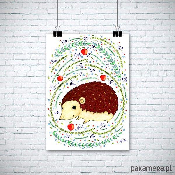 pokój dziecka - obrazy i plakaty-Jeżyk A3