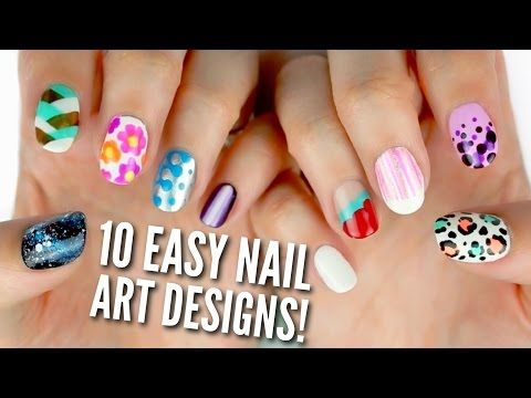 Highlighter Spring Floral Nail Art Youtube Nails Pinterest