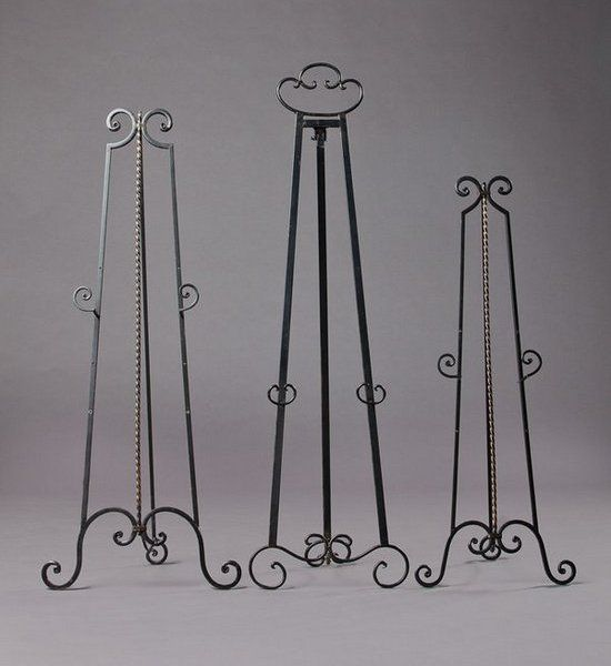 Wrought Iron Easels Scroll Top Detail Southern Events Party Al Company Nashville Picture Stand