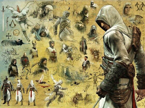 Altaïr Ibn-La'Ahad | Assassins creed, Obras de arte y Dibujos
