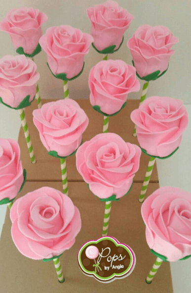 Cake Pops Rosa Rose Cake Pops | Baking And Decorating | Kuchen Ideen