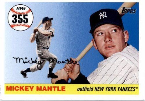 2006 Topps Mantle Home Run History Mhr233 Mickey Mantle New York Yankees 2007 Topps Series 1 Baseball Cards New York Yankees Mickey Mantle Baseball Cards