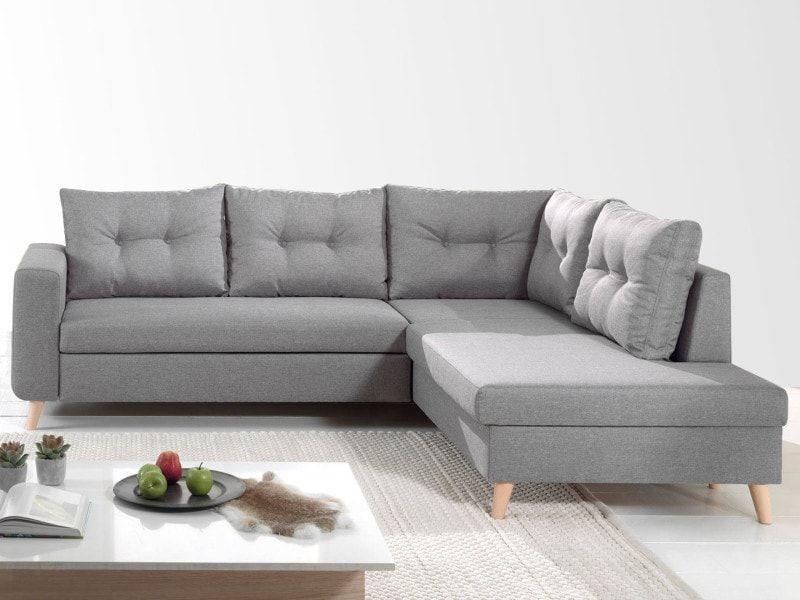 Nordic Canape Scandinave D Angle Droite L Convertible En Tissu 234x86x188cm Couleur Gris Clair Vente De Lisa Design Home Decor Furniture Decor