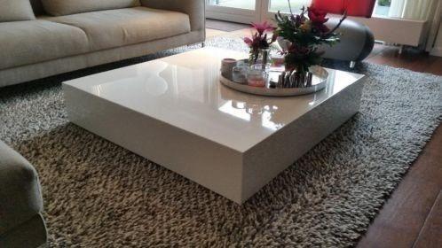 Salontafel Hoogglans Wit Blok.Design Zwevend Wit Hoogglans Salontafel Kubus Woonkamer Table