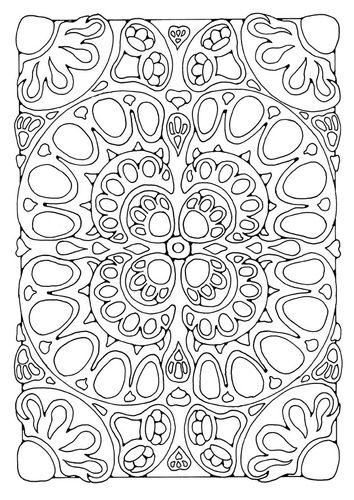 geometric - Colour In Stencils