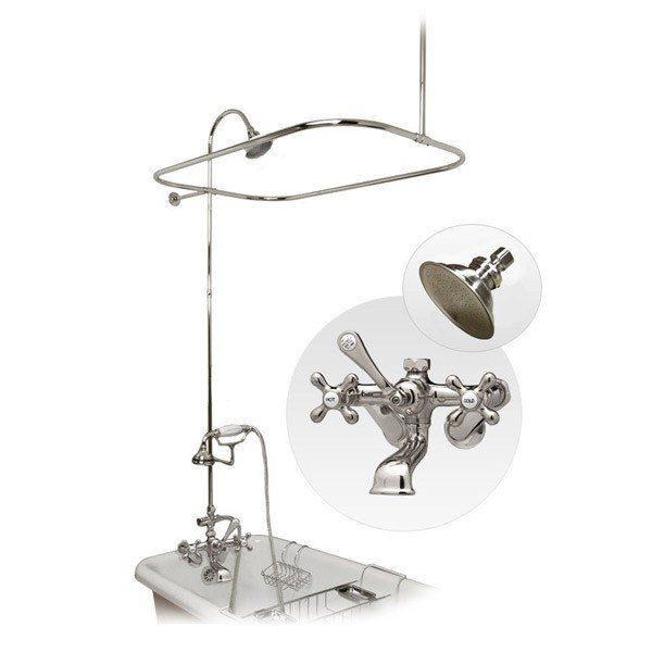 clawfoot tub shower enclosure set. Clawfoot Tub Shower Enclosure With Faucet  Metal Showerhead And Handshower Kit Randolph Morris Yep Those Fancy Hot Cold Buttons Fell Off Immediately Wall Mount Enclousure