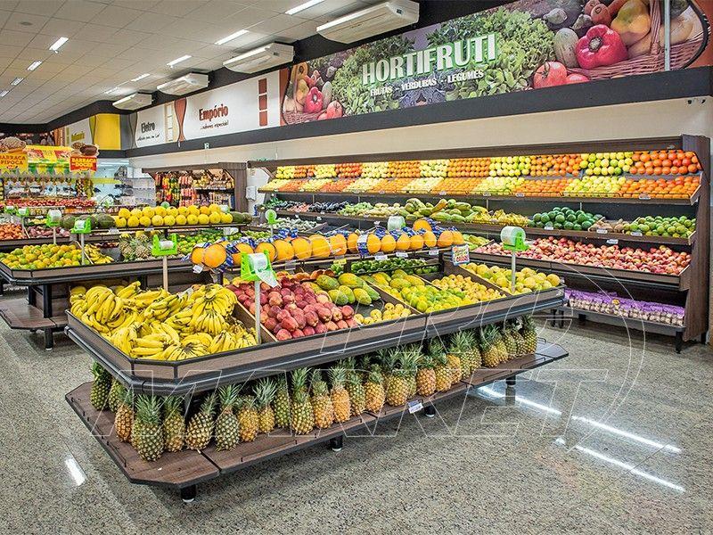 Prómarket Exposição Que Vende Produtos Hortifruti Grocery Store Design Supermarket Design Store Design Interior