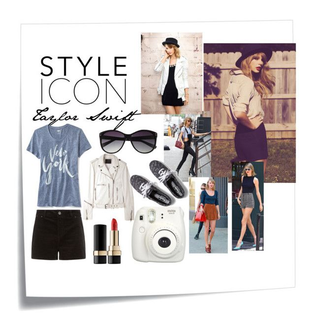 """""""Style Icon: Taylor Swift"""" by style4everxoxo on Polyvore featuring Post-It, Dolce&Gabbana, Old Navy, R13, Vince Camuto and Keds"""