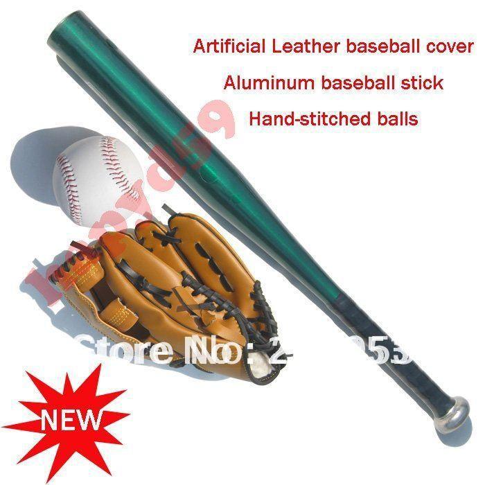 1 Set Gratis Kapal Anak Sarung Tangan Baseball Aluminium Paduan Bisbol Tongkat Aluminium Alloy Softball Gloves Baseball