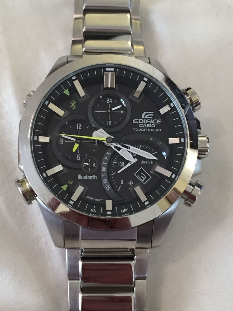 ade1278347d CASIO EDIFICE BLUETOOTH TOUGH SOLAR EQB-500 MENS WATCH Relógio Casio