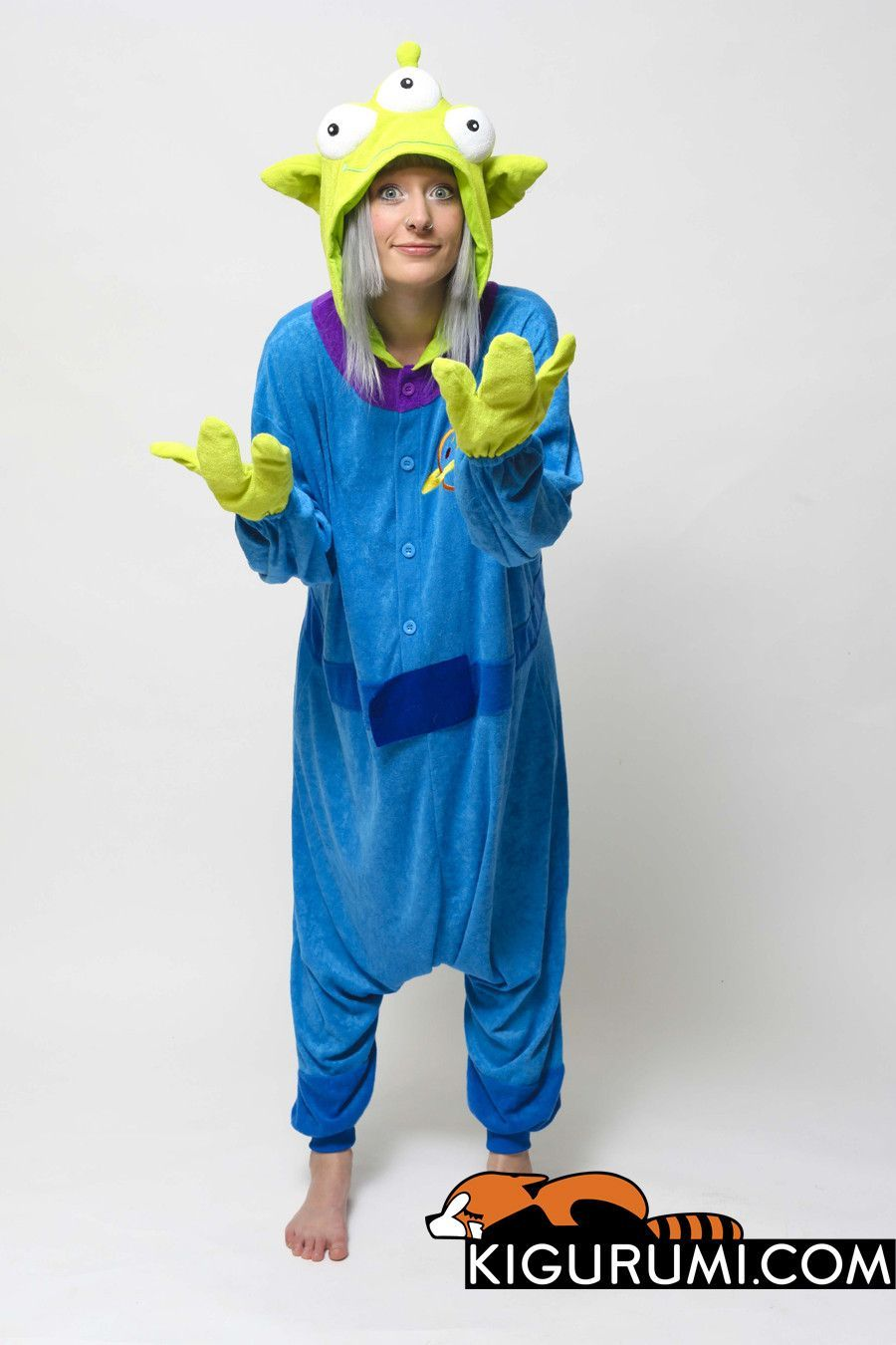 Little Green Man Kigurumi Onesie a8fce2024